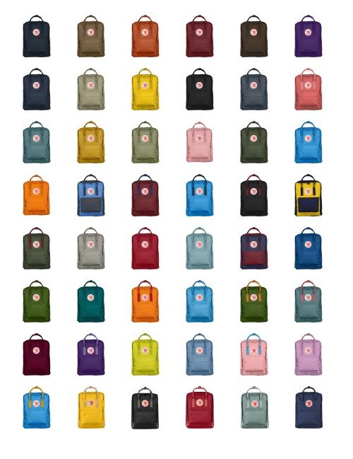 Fjällräven Kanken Rucksack Farbvarianten