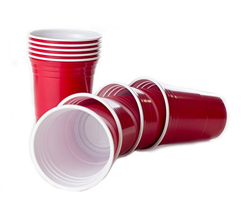Beer Pong Becher - Rote Partybecher Red Cup - Studentenparty
